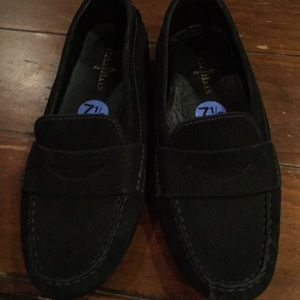 Cole Haan black suede loafers